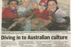 My Swim To Sport ( the cooperation between @From Zero to Hero and Migrant Resource Centre Tasmania founded by Healthy Tasmania) in The Mercury Newspaper
